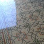 Lucidatura pavimenti in graniglia d'epoca.