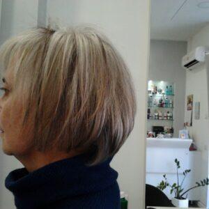 DONATELLA Meches a 3 colori su capelli Bianchi