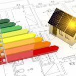 17574567 - energy performance scale with a house and plan (3d render)
