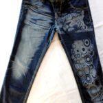 Incisione laser su Jeans, sbiaditura sabbiatura a laser