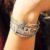 Bracciali con soggetti e castoni in argento e zirconi bianchi con lettere con zirconi rubi o lettere con zirconi blu