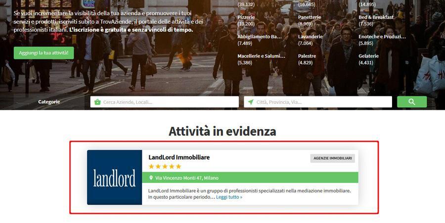 Vetrina Homepage