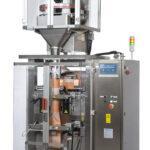DOLZAN- Confezionatrice equipaggiata con dosatore volumetrico a tazze per prodotti granulari come zucchero, riso, legumi e semi.