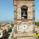 Ispezione per lavori di manutenzione su campanile